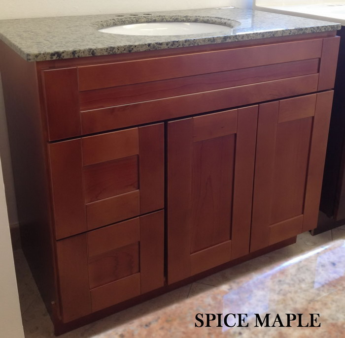 Spice Maple Vanity Cabinet Marble Oakland,kitchen Cabinet