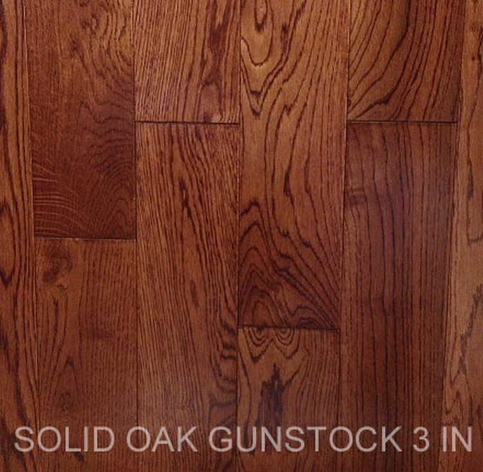 Solid Oak Gunstock 3 In Hardwood Floor Marble Oakland